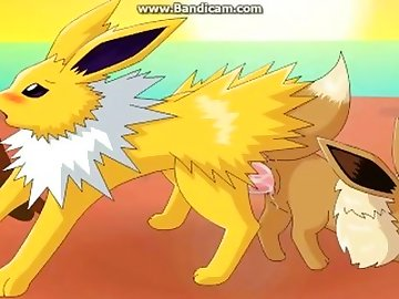 Pokemon Hentai, pokemon, jolteon, creampie, cartoon, parody