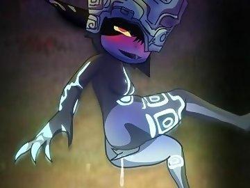 Legend of Zelda Hentai, masturbate, zelda, twilight, princess, midna, animation, 2d, legend, masturbation, cartoon