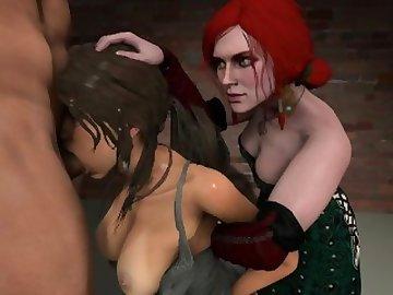 Lara Croft Porn, sfm, lara, croft, cartoon