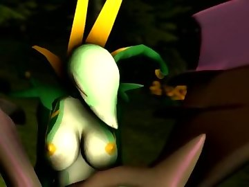 Pokemon Hentai, pokemon, evilbanana, ass, funny, shemale, cartoon, 60fps