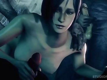 Resident Evil Porn, public, outside, ada, wong, resident, evil, hard, sex, ass, gangbang, cartoon