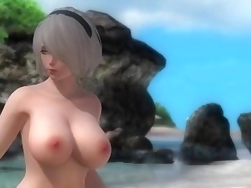 Dead or Alive Hentai, anime, 2b, hentai, nier, automata, cartoon, dead or alive