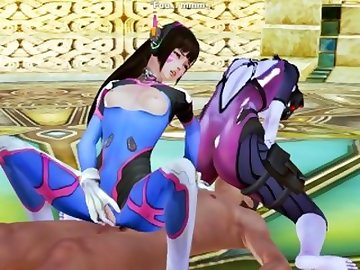 Overwatch Porn, orgasm, squirting, 3some, butt, anime, 3d, hentai, overwatch, dva, widowmaker, uncensored, game, honey, select, ass, threesome, squirt, cartoon, overwatch