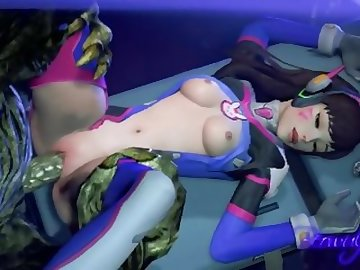 Overwatch Porn, anime, overwatch, dva, sfm, sound, cartoon, korean