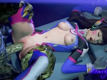 Overwatch Porn, anime, overwatch, dva, sfm, sound, cartoon, korean