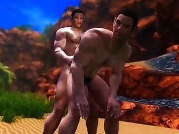 Star Trek Porn, cartoon, cock, 3d, skyrim, star, trek, vulcan, farr, twins, brothers, animated, animation, bareback, fetish, dick, gay, hunks, straight, guys