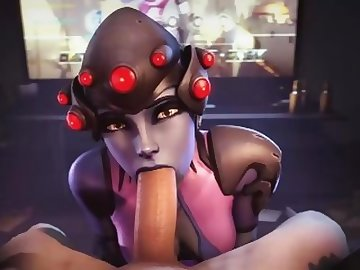 Overwatch Porn, boobs, cock, point, view, overwatch, widowmaker, blowjob, tits, pov, cartoon, 60fps