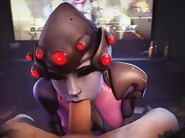 Overwatch Porn, boobs, cock, point, view, overwatch, widowmaker, blowjob, tits, pov, cartoon, 60fps, overwatch