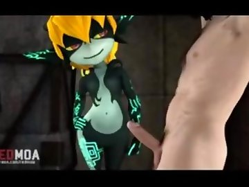 Legend of Zelda Hentai, sfm, futa, compilation, midna, sound, zelda, link, cumshot, shemale, cartoon