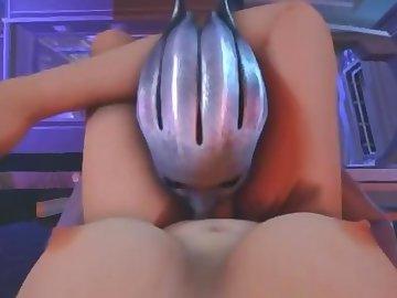 Mass Effect Hentai, mass, effect, liara, shemale, cartoon