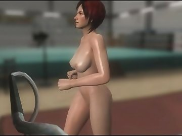 Dead or Alive Hentai, boobs, anime, dead, alive, doa, mila, sweat, naked, sport, videogame, nude, mod, breast, jiggle, tits, boucing, babe, cartoon, 60fps, music