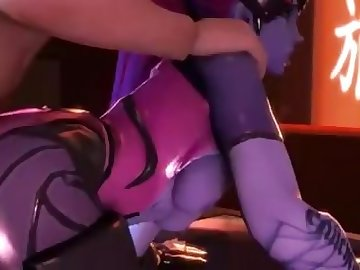 Overwatch Porn, anime, overwatch, widowmaker, creampie, edited, hentai, 3d, cartoon