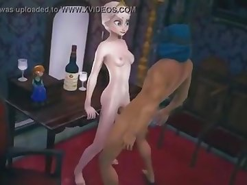 Frozen Elsa & Anna Fuck 2 [SFM Numerous V... - Hentai Porn Video