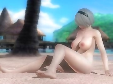 Dead or Alive Hentai, hentai, cartoon, 60fps, anime, nier, automata, 2b