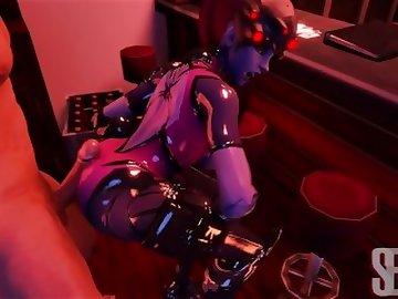 Overwatch Porn, anime, hentai, sex, porn, fuck, hotdogging, overwatch, widowmaker, cum, butt, twerking, twerk, dick, cartoon, 60fps, overwatch