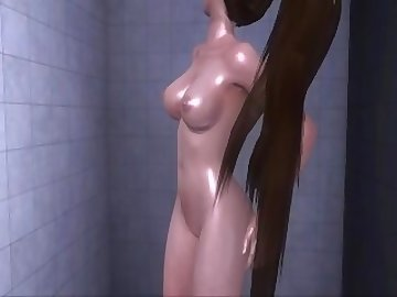 Dead or Alive Hentai, ass, fuck, nude, shower, asian, babe, cartoon