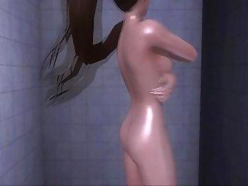 Dead or Alive Hentai, ass, fuck, nude, shower, asian, babe, cartoon