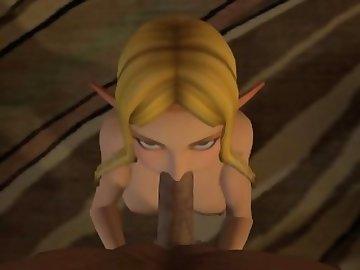 Legend of Zelda Hentai, zelda, legend, blowjob, sfm, point, view, blonde, pov, cartoon