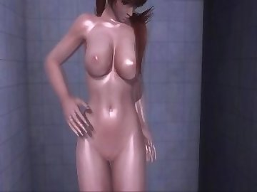 Dead or Alive Hentai, nude, shower, dead, alive, asian, college, cartoon, korean