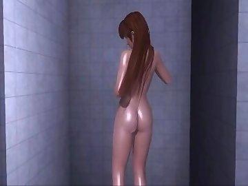 Dead or Alive Hentai, nude, shower, dead, alive, asian, college, cartoon, korean