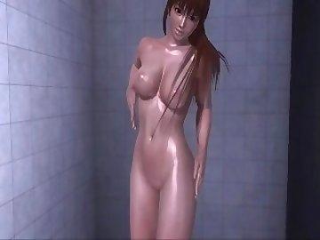Dead or Alive Hentai, nude, shower, dead, alive, asian, college, cartoon, korean, dead or alive
