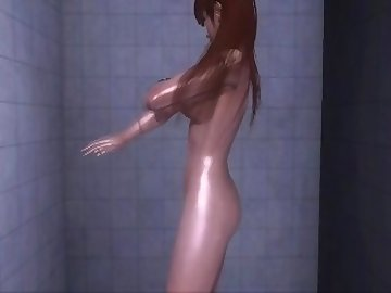 Dead or Alive Hentai, nude, shower, dead, alive, asian, college, cartoon, korean, dead or alive