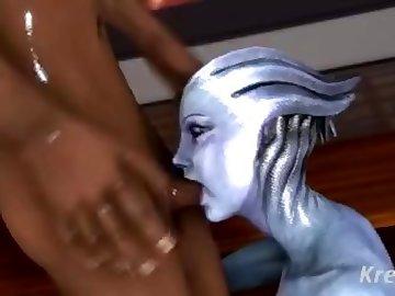 Mass Effect Hentai, butt, boobs, video, game, liara, mass, effect, blowjob, tits, ass, cartoon