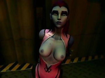 Overwatch Porn, anime, 3d, monster, overwatch, widowmaker, sfm, source, filmmaker, animated, video, games, cartoon, overwatch