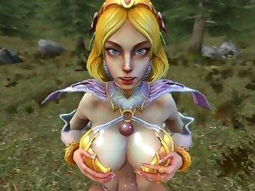 SMITE Hentai, butt, cock, boobs, kink, aphrodite, titfuck, smite, sfm, source, filmmaker, pov, ass, fetish, cartoon