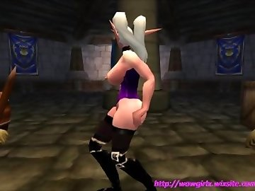 World of Warcraft Porn, wowgirlx, wgx, world, warcraft, wow, night, sexy, strip, tease, dance, boobs, breasts, tits, ass, butts, cartoon, 60fps