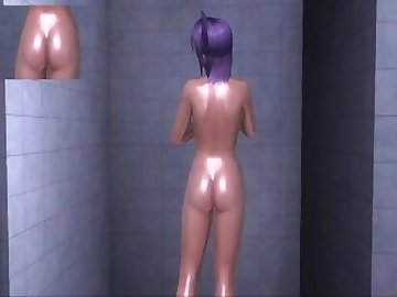 Dead or Alive Hentai, celeb, dead, alive, ayane, doax3, shower, celebrity, college, asian, cartoon, dead or alive