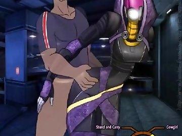 Mass Effect Hentai, tali, zorah, quarian, mass, effect, cartoon