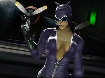 justice, catwoman, 3d, hentai, cartoon, video, game, anime, sexy, latex, catsuit, ps3, mortal, kombat, safe, work, compilation, montage, tits, babe