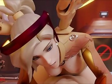 Overwatch Porn, point, view, mom, mother, mercy, handclap, overwatch, porn, sfm, loop, sound, fuck, futa, blonde, milf, shemale, cartoon