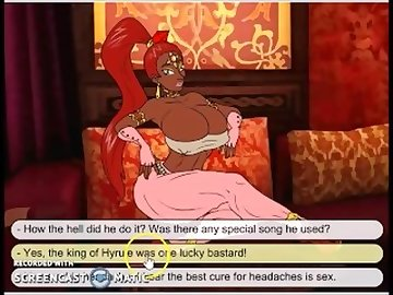 Legend of Zelda Hentai, black, ebony, handjob, cartoon, music