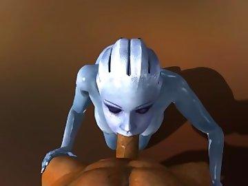 Mass Effect Hentai, anime, point, view, video, game, blowjob, mass, effect, liara, tsoni, sfm, source, filmmaker, 3d, porn, deepthroat, crazy, alien, pov, cartoon