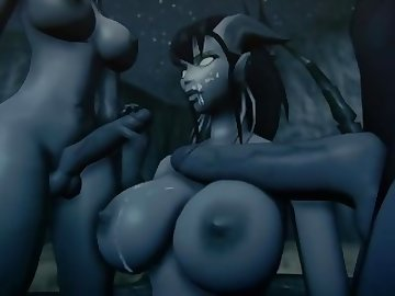 World of Warcraft Porn, 3some, group, boobs, world, warcraft, whorecraft, 3d, source, filmmaker, family, father, daughter, videogame, tits, threesome, shemale, cartoon