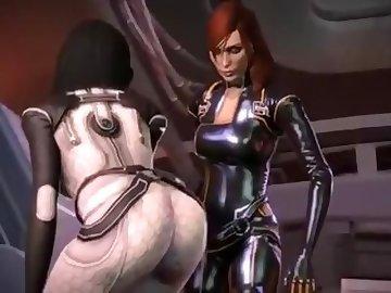 Mass Effect Hentai, cock, boobs, hotdogging, cumshot, futa, femshep, miranda, lawson, mass, effect, cartoon, video, game, buttjob, dick, tits, shemale
