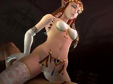 Legend of Zelda Hentai, anime, 3d, 3dcg, cartoon
