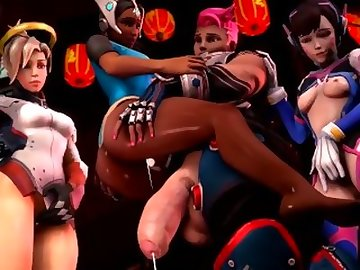 Overwatch Porn, anime, futa, video, game, cartoon, creampie, overwatch, shemale, overwatch