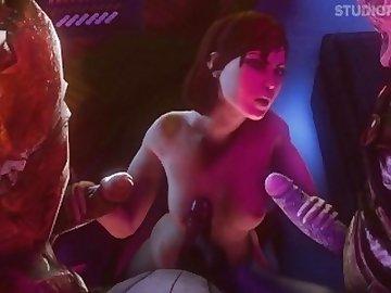 Mass Effect Hentai, orgasm, squirting, mass, effect, porn, source, filmmaker, sfm, interracial, squirt, gangbang, cartoon