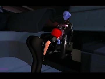 Mass Effect Hentai, anime, mass, effect, futa, asari, shemale, femshep, cartoon, 60fps, parody
