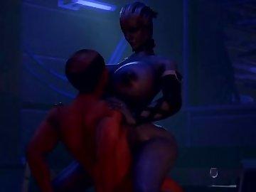 Mass Effect Hentai, 60fps, sexy, liara, effect, mass, dick, tits, ass, game, video, cartoon, babe, cock, boobs, butt