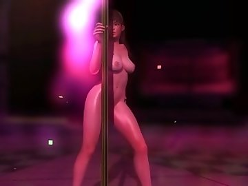Dead or Alive Hentai, dead, alive, nude, pole, dance, mod, leifang, point, view, teasing, asian, striptease, cartoon, 60fps, cosplay