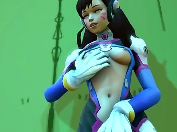Overwatch Porn, overwatch, futa, lots, precum, shemale, cartoon, parody