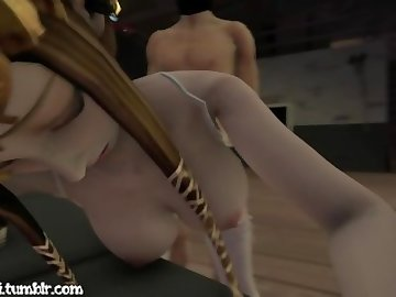 Legend of Zelda Hentai, boobs, sfm, 3d, palutena, zelda, tits, blowjob, cartoon, 60fps