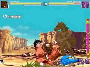 DragonBall Z Hentai, pixel, hentai, game, video, mugen, sprite, beerus, minotaur, dragon, ball, art, bareback, gay, cartoon, dragon ball z