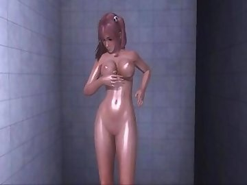 Dead or Alive Hentai, boobs, nude, shower, asian, babe, tits, cartoon
