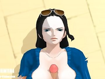 One Piece Hentai, public, outside, anime, point, view, mmd, nico, robin, piece, hentai, vrhentai, virtual, reality, pov, uniforms, cartoon, cosplay