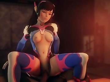 Overwatch Porn, anime, dva, overwatch, compilation, cartoon, parody, overwatch